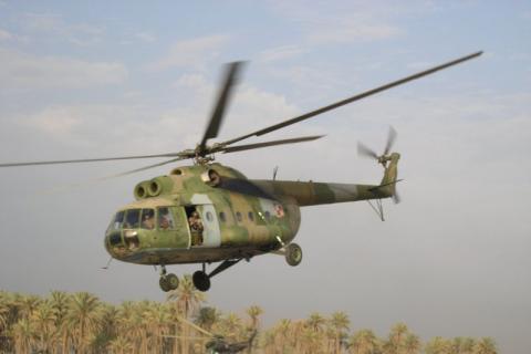 В Днепр вертолетом доставили двух тяжело раненых бойцов