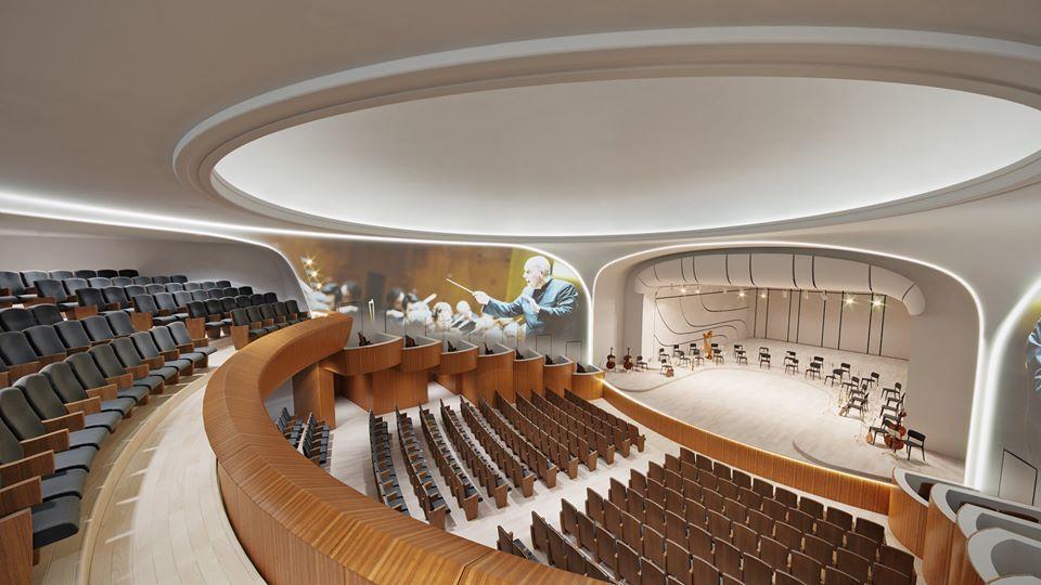 Концертный зал после реконструкции.