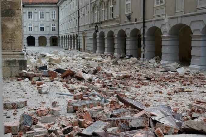 Сильнейшее землетрясение в Хорватии: природный катаклизм разрушил столицу Загреб