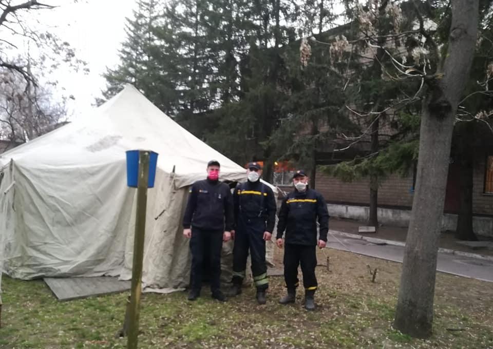 В Днепропетровской области будут проверять людей на коронавирус в палатках