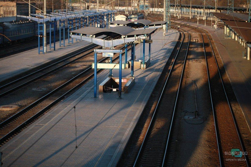 Непривычно пустая платформа