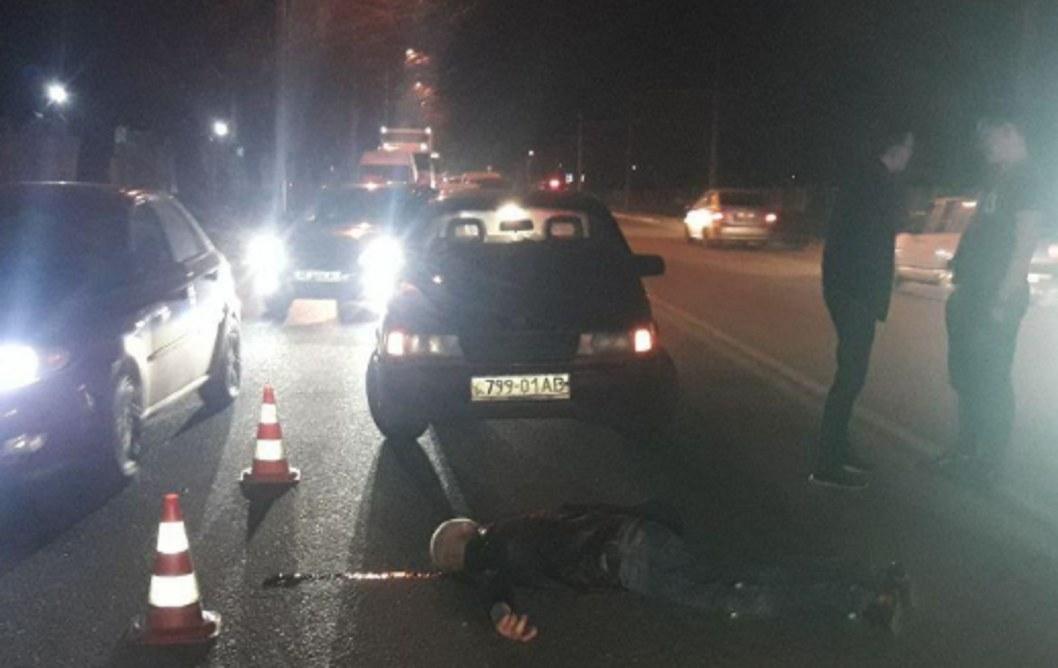 Жуткое ДТП: в Днепре водитель иномарки сбил пьяного мужчину
