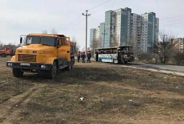 Автобус ЛАЗ сгорел полностью