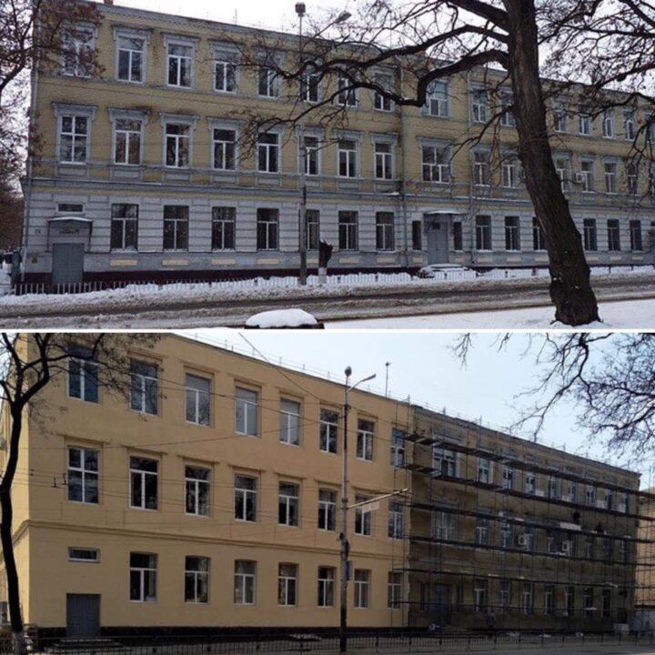 """""""Варварское отношение"""": в Днепре испортили фасад одной из старейших школ города"""