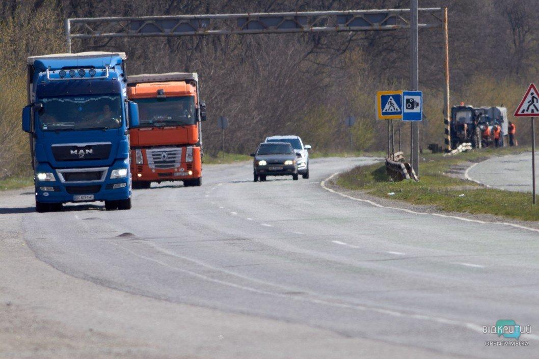 На Полтавском шоссе довольно оживленный трафик