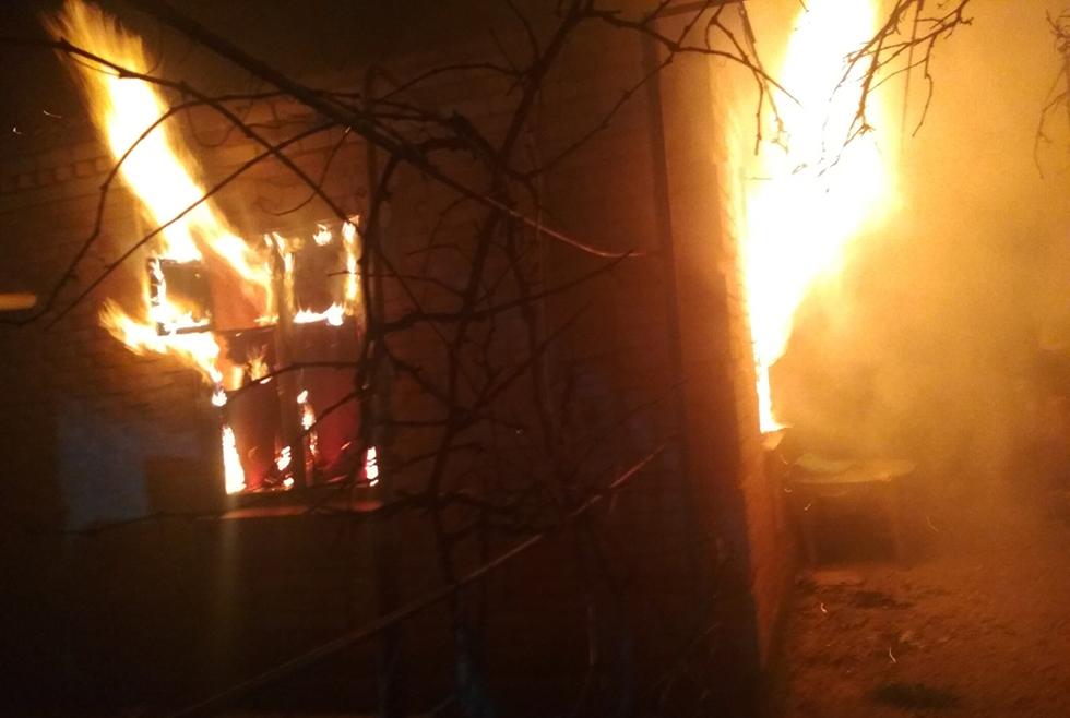 Под Днепром горел частный дом: есть пострадавшие