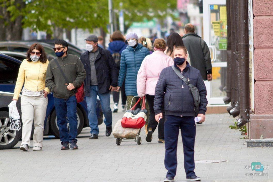 Люди в масках в Днепре