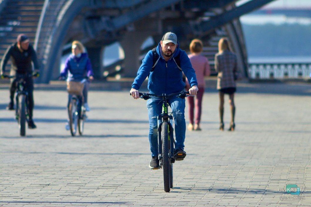 Велосипедистов в Днепре стало в разы больше