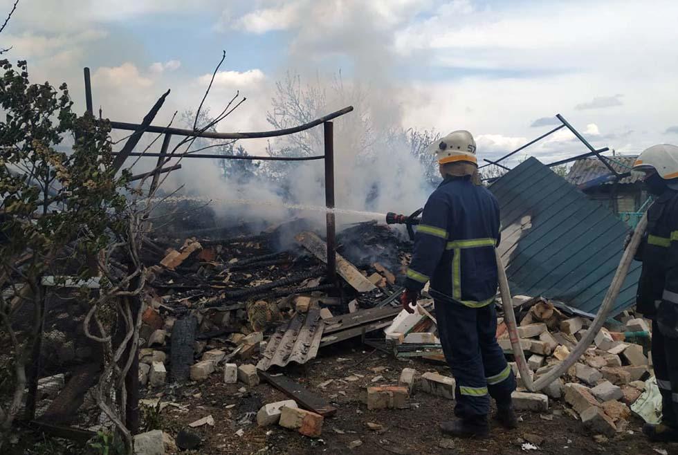 Днепр пожар в частном доме
