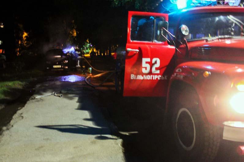 Пожар авто Вольногорск