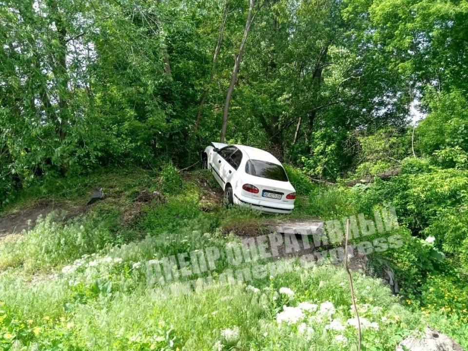 ДТП в Днепре на Кротова: машину занесло в кусты