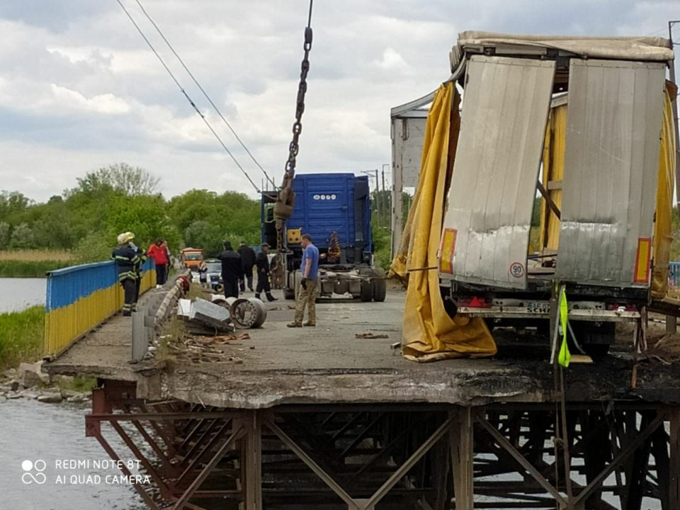 Авария на Алексеевском мосту