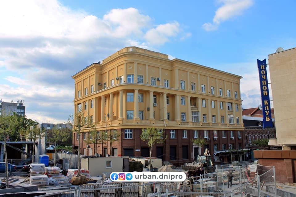 В Днепре закончили реконструкцию 80-летнего здания на Короленко (ФОТО)
