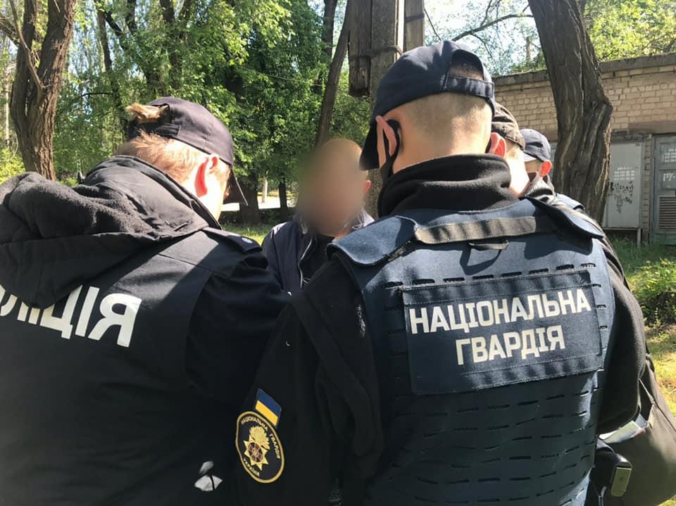 На Днепропетровщине поймали наркоторговца во время зажжения вечного огня (ФОТО)