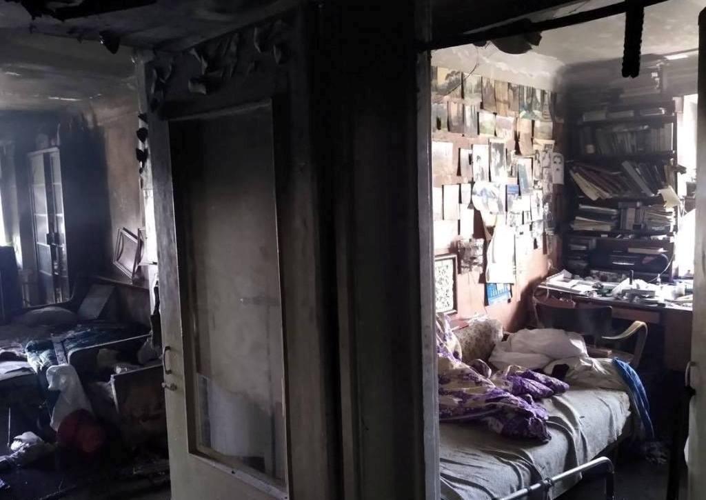 В Днепре во время пожара погибла женщина (ФОТО, ВИДЕО)