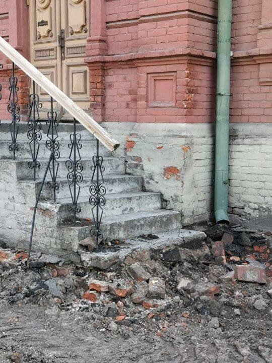Повредили усадьбу Яворницкого