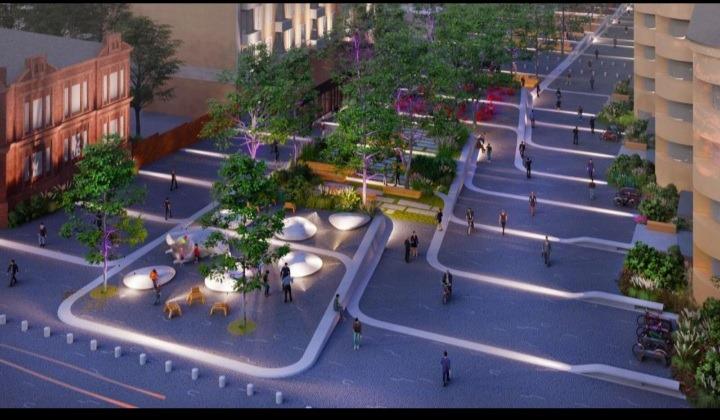 Как может выглядеть площадь Шевченко и улица Яворницкого после реконструкции (ФОТО)