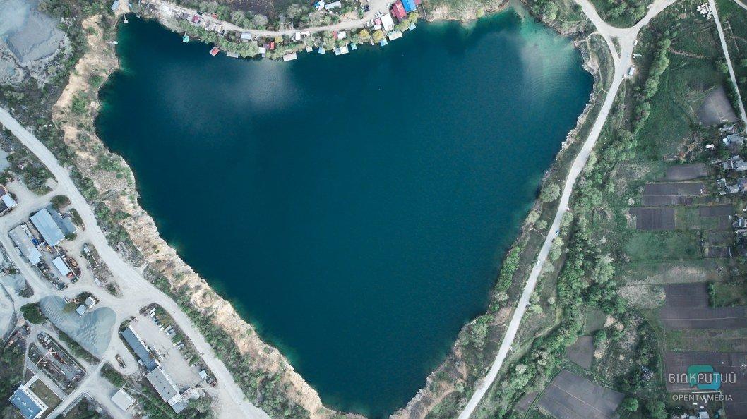 Новониколаевский карьер на выезде с Днепра