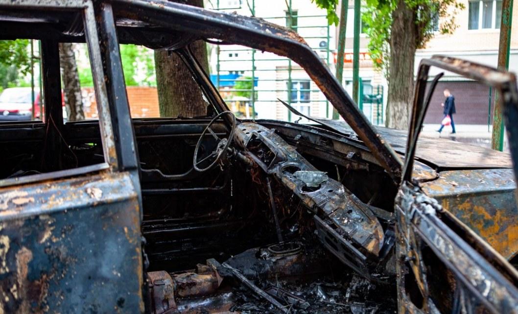 Сгорело авто Днепр