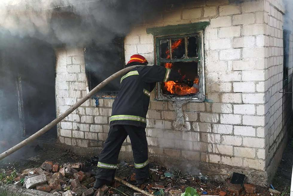 Село Пушкарёвка пожар