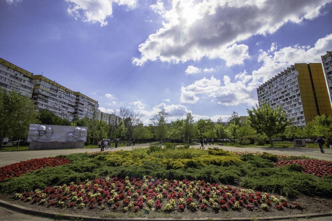 В Днепре на Победе появилось цветочное мини-поле и хвойная аллея (ФОТО)
