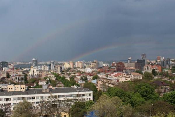 Двойная радуга Днепр