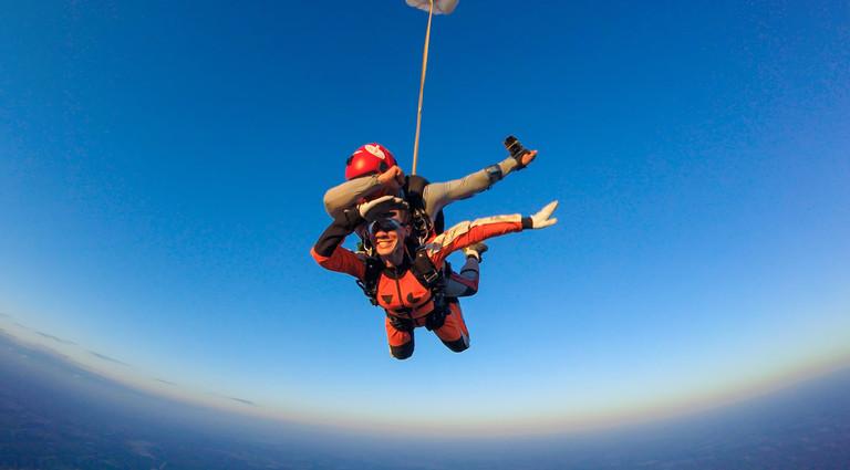 Тандем с высоты в 4000 метров в Днепре