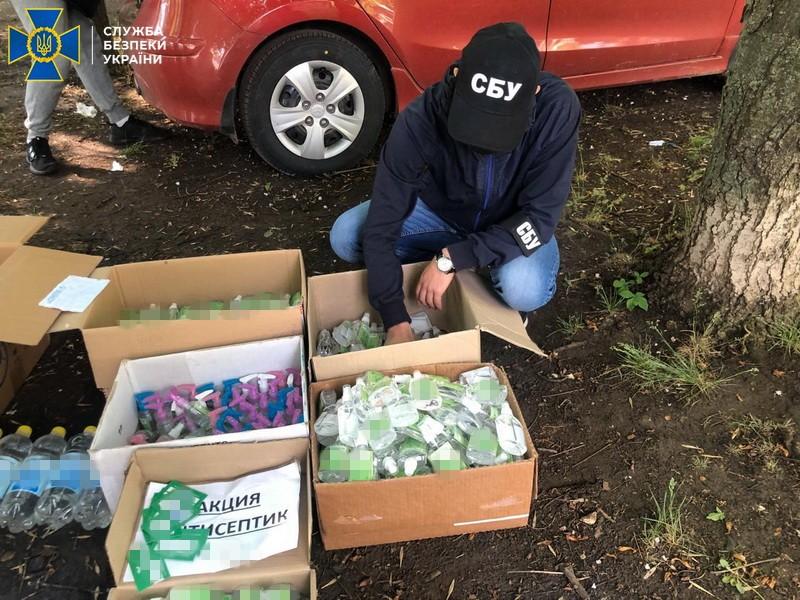 На Днепропетровщине раскрыли подпольный цех контрафактных антисептиков (ФОТО)