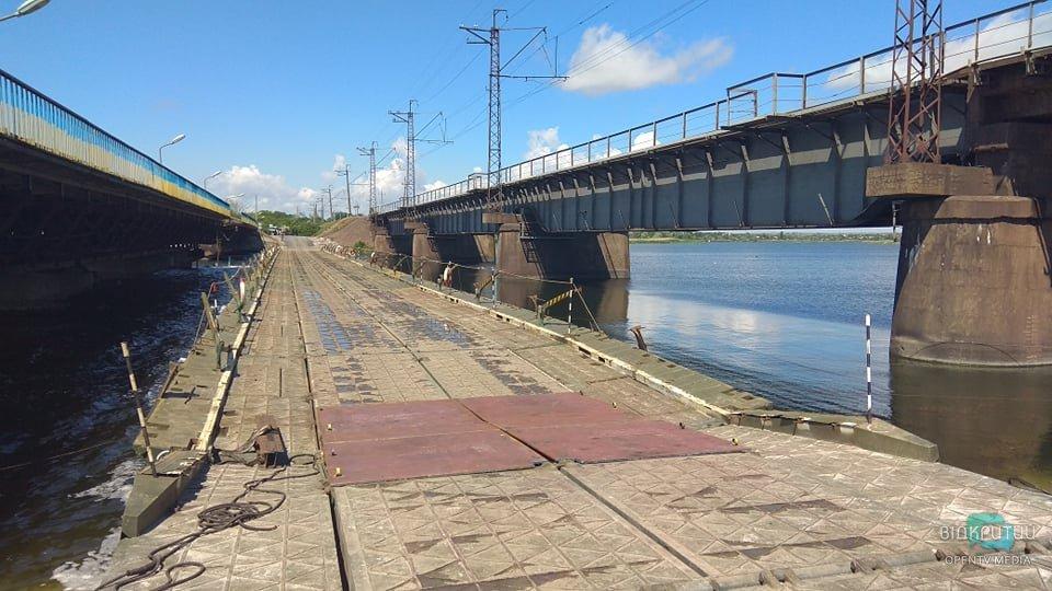 Рухнувший мост в селе Алексеевка