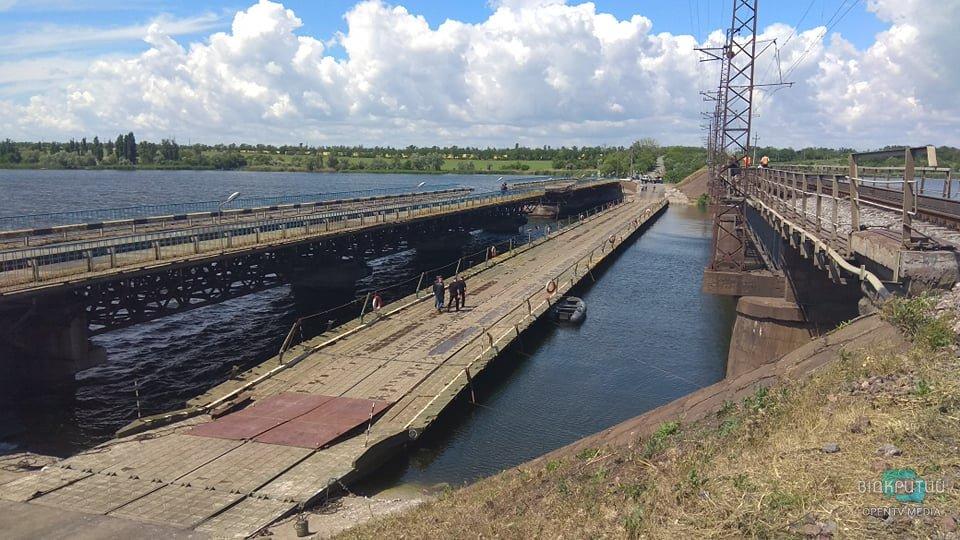 Понтонный мост в Алексеевке