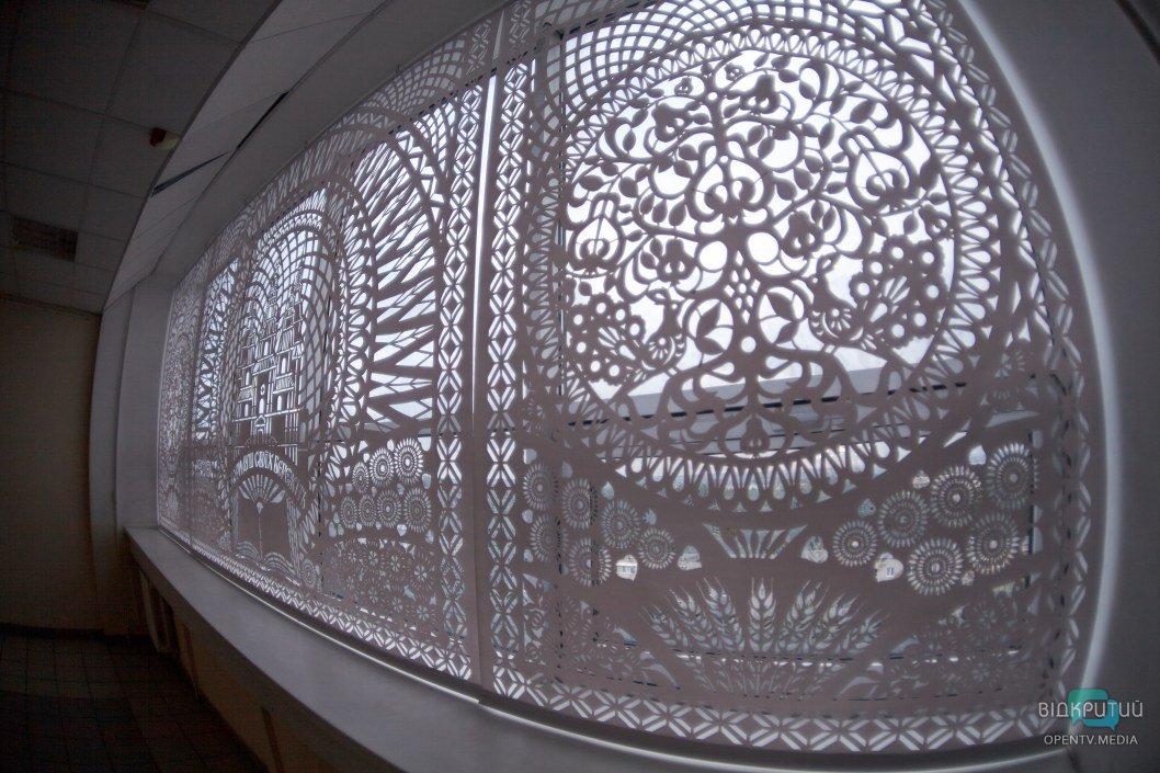 В Днепре студентка создала необычный 5-метровый триптих (ФОТО)