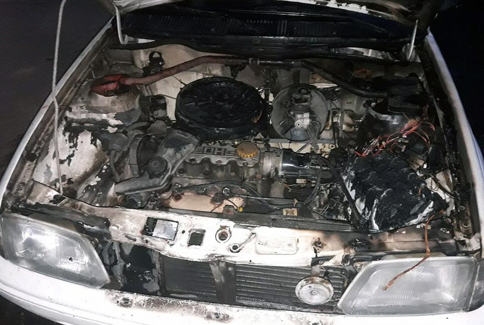 Пожар в авто Днепр