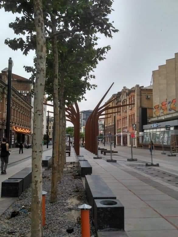 Как выглядит улица Короленко в Днепре после вчерашней бури (ФОТО)