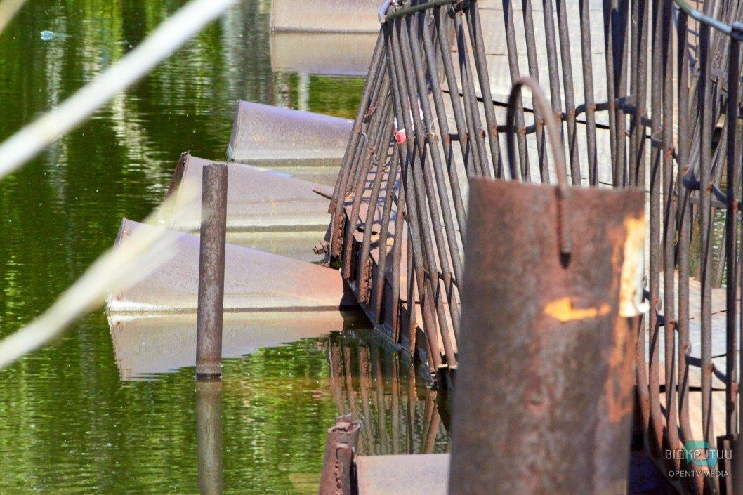 Пешеходный мост через реку Шиянка