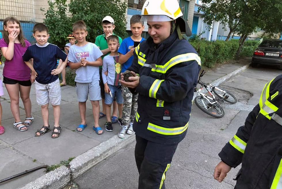 Хорошие новости: в Каменском пожарные спасли жизнь ёжику (ФОТО, ВИДЕО)