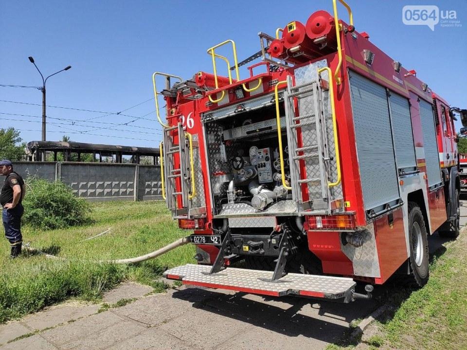 Горел трамвай в Кривом Роге