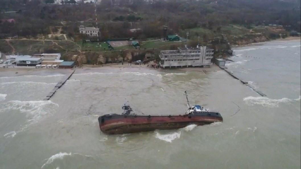 Затонувший танкер в Одессе