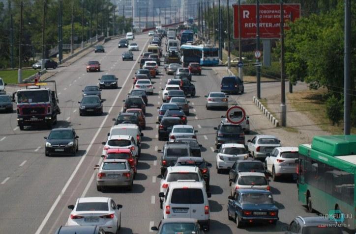 На Амурском мосту пробка: столкнулись 4 авто (ФОТО, ВИДЕО)