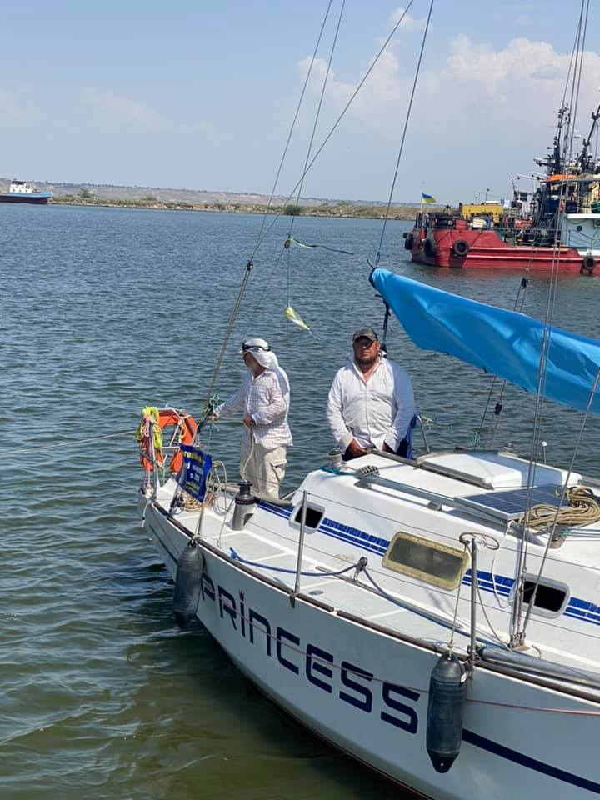 Пережили белый шквал: яхты, которые плывут из Днепра в Очаков, закончили свое путешествие