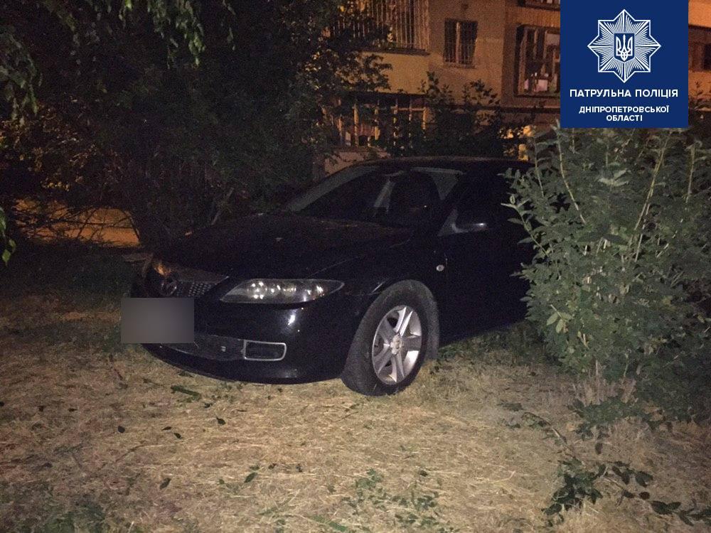 Пытался скрыться и заехал в кусты: в Днепре задержали пьяного водителя