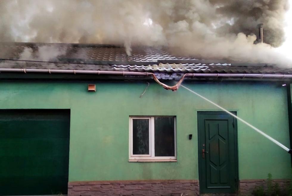 Пожар в гараже Кривой Рог