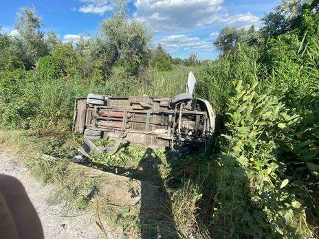 На Днепропетровщине перевернулся микроавтобус - 12 пассажиров еще остаются в больнице