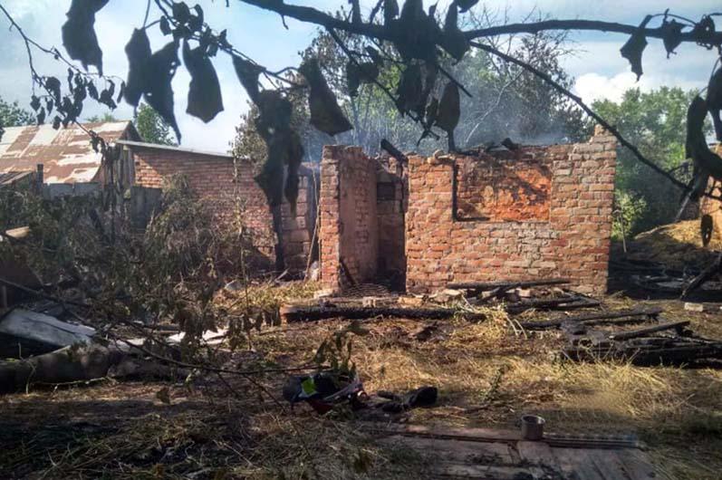 Пожар в селе Зоря