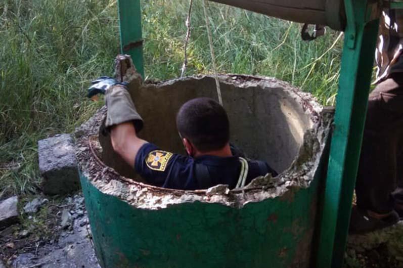 Спасатели вытащили козочку из колодца