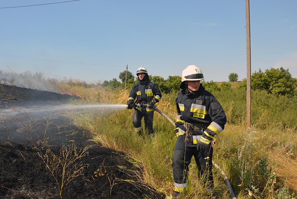 Выгорело несколько гектаров травы: возле Днепра тушили пожар (ФОТО, ВИДЕО)