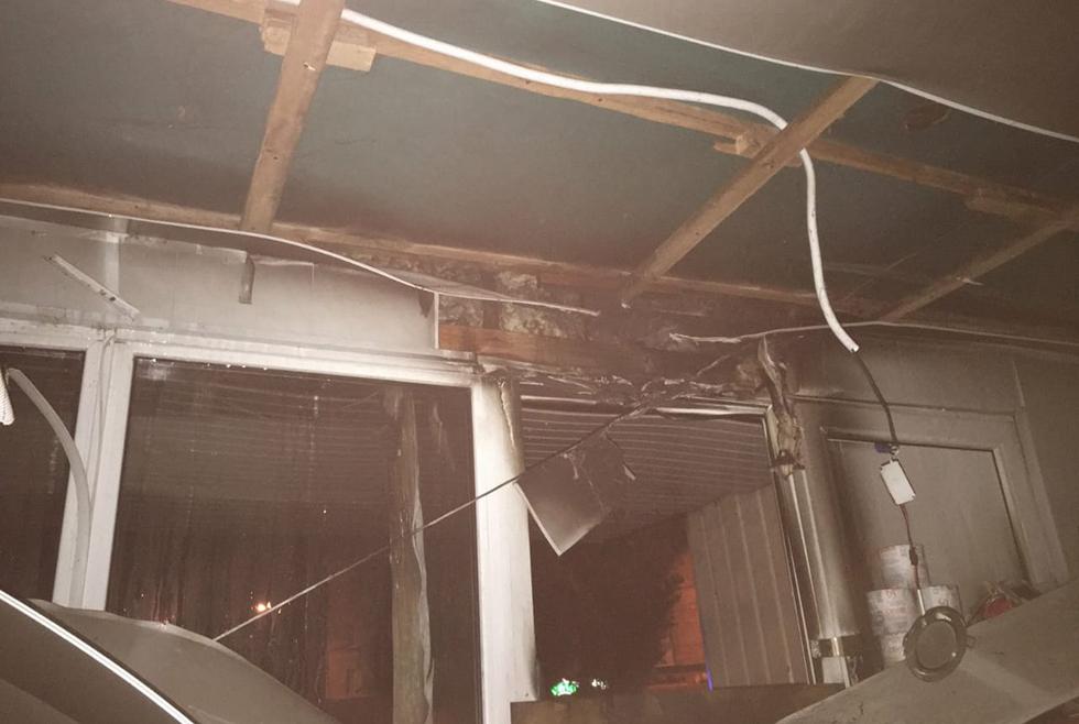 В Кривом Роге горел продуктовый магазин