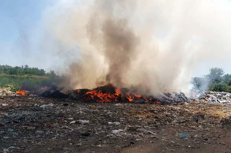 Масштабный пожар: в Желтых Водах горела свалка (ФОТО)