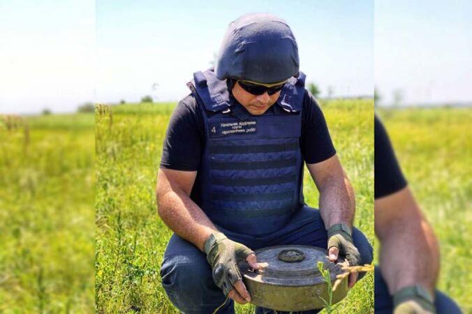 Опасная находка: мужчина из Павлограда нашёл у себя во дворе противотанковую мину