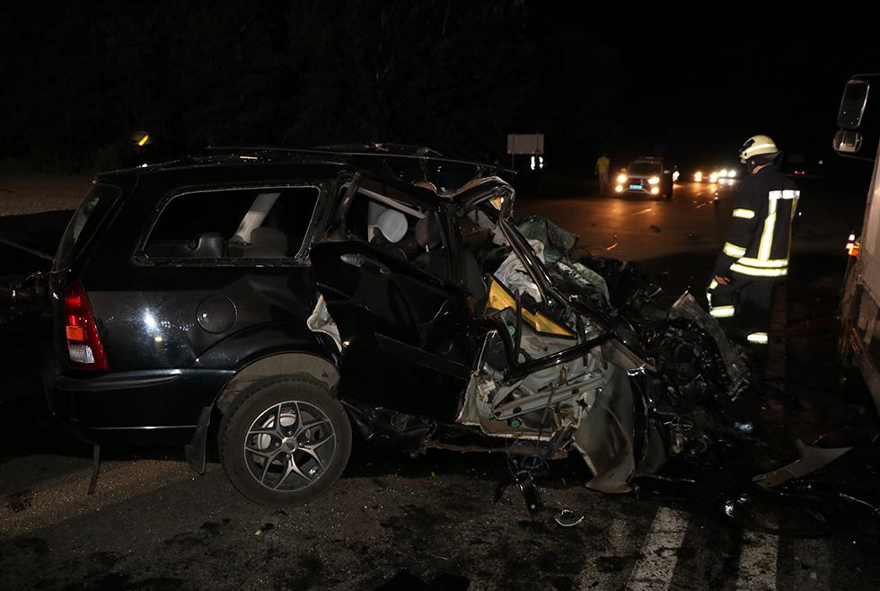 Появилось видео момента аварии на Полтавском шоссе