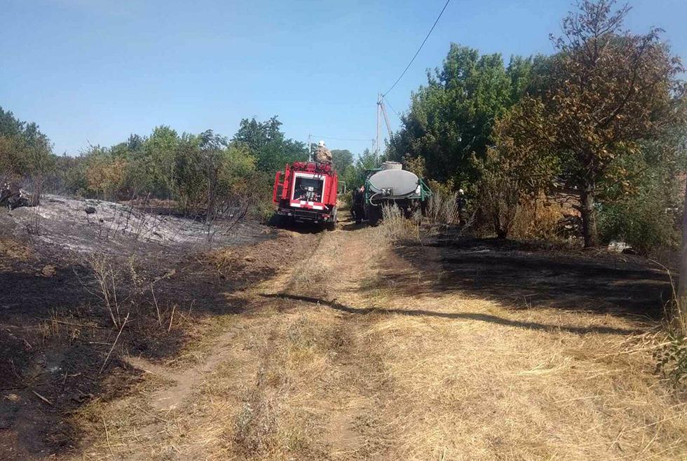 Пожар в Новопавловке